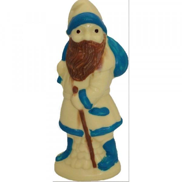 Schokoladen-Nikolaus, weiß-blau