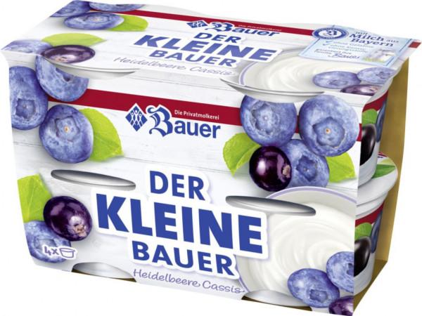 """Fruchtjoghurt """"Der Kleine Bauer"""", Heidelbeer-Cassis 4 x 100g"""
