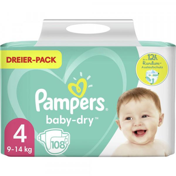 Windeln Baby Dry Gr. 4, 9-14kg Dreierpack
