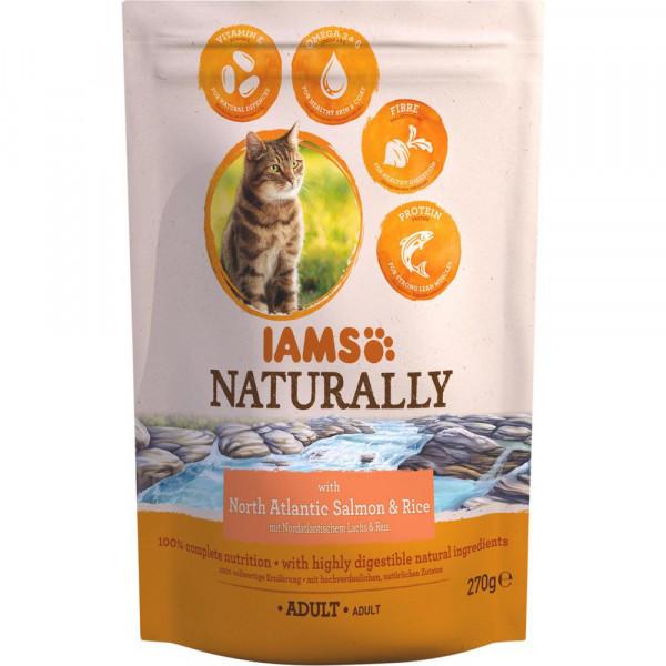 "Katzen-Trockenfutter ""Naturally"", Lachs/Reis"