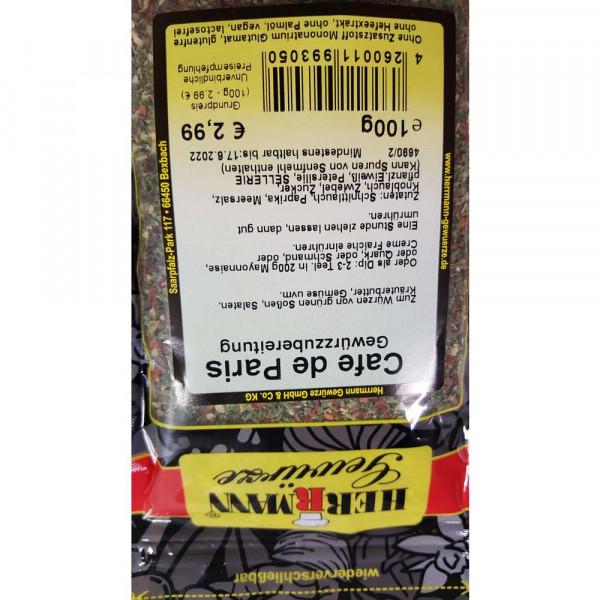 Gewürzmischung Cafe de Paris