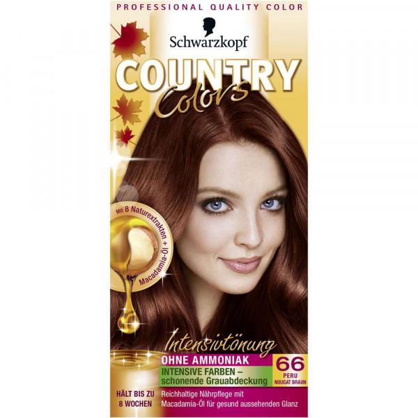 "Haarfarbe ""Country Colors"", 66 Nougatbraun"
