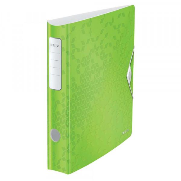 Ordner, grün, Kunststoff, 6,5 cm, DIN A4