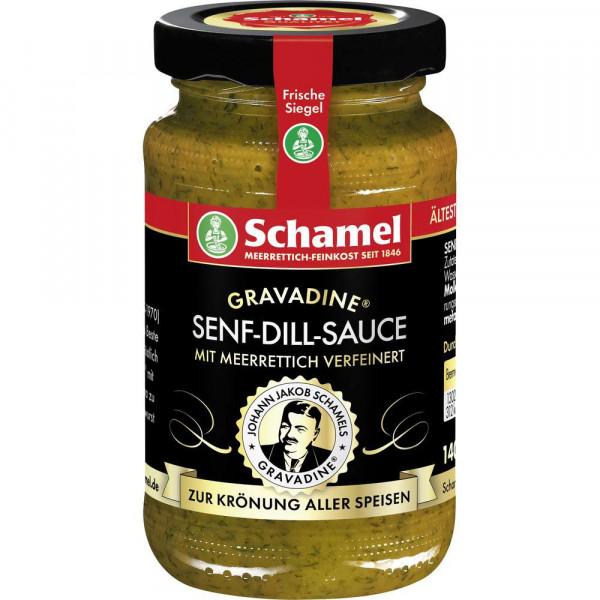 Senf-Dill-Sauce mit Meerrettich verfeinert