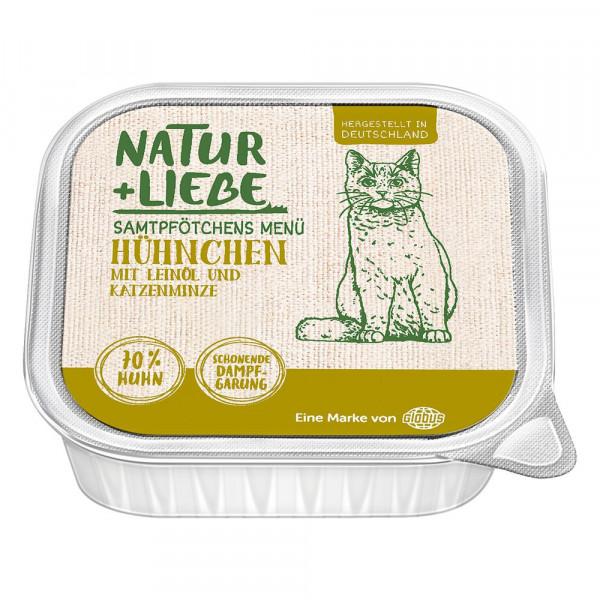 Katzen Nassfutter mit Huhn, Leinöl und Katzenminze