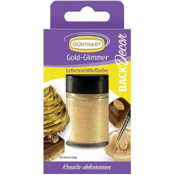 Gold-Glimmer Lebensmittelfarbe