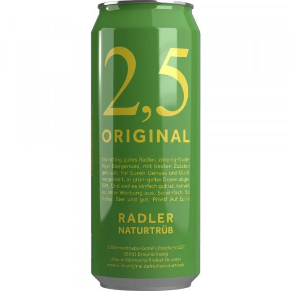 Biermischgetränk, Radler naturtrüb 2,5%