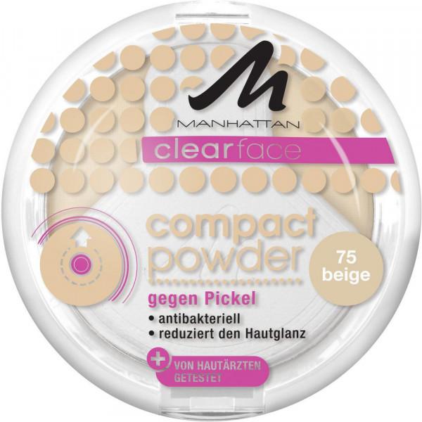 Clearface Compact Powder gegen Pickel, Beige 75