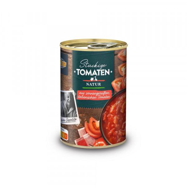 Geschälte Tomaten, stückig, in Tomatensaft