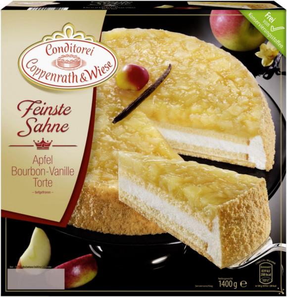 Feinste Sahne Apfel-Vanille Torte, tiefgekühlt