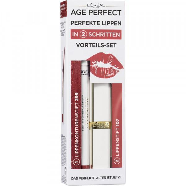 Age Perfect Vorteils-Set Perfekte Lippen Coffret Iris, Lippenstift & Lipliner