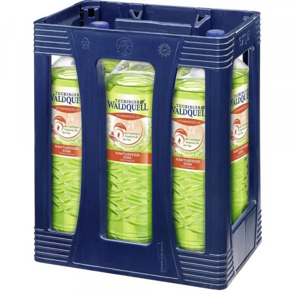"""Mineralwasser """"Vitaminquelle"""" mit Kaktusfeige-Kiwi-Geschmack, naturelle (6 x 1.5 Liter)"""