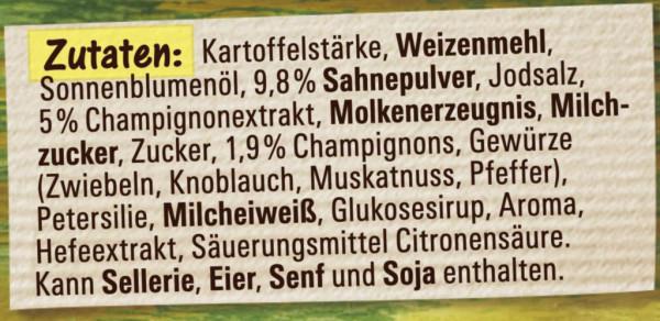 Genießer Suppe, Champignon Creme
