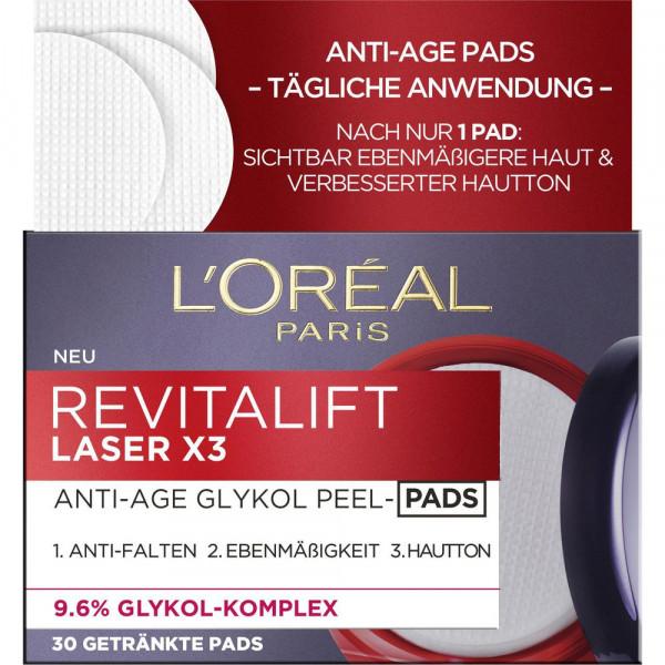 Revitalift Laser X3 Anti-Age Glykol Peel-Pads