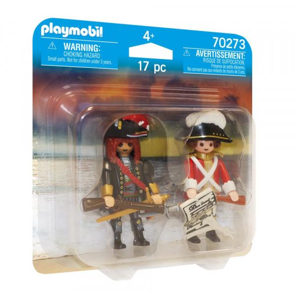 PLAYMOBIL 70273 DuoPack Piratenkapitän und Rotrock