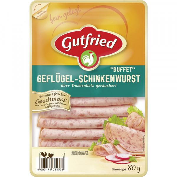 Geflügel-Schinkenwurst, geräuchert