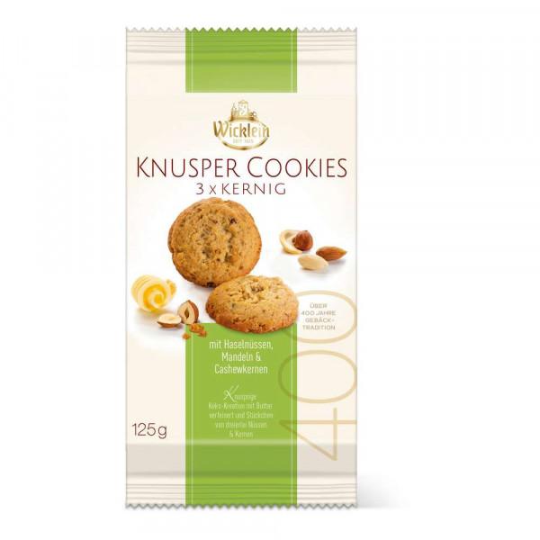 Knusper-Cookies mit Haselnüssen, Mandeln & Casehwkernen