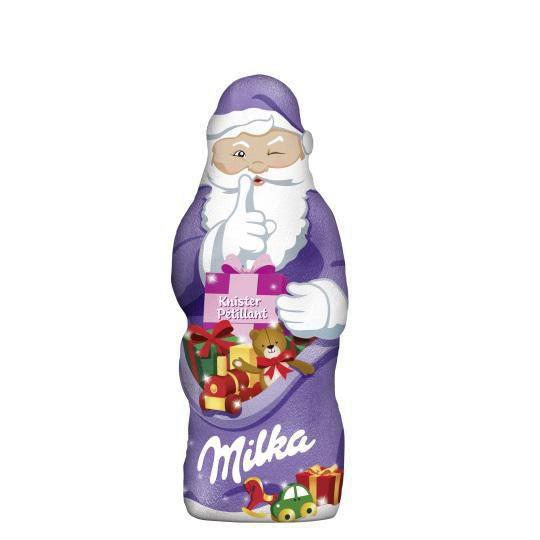 Schokoladen-Weihnachtsmann, Knister