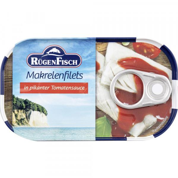 Makrelenfilets in pikanter Tomatensauce