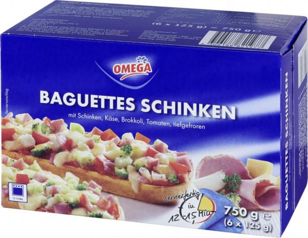 Schinken-Baguette, tiefgekühlt 6er