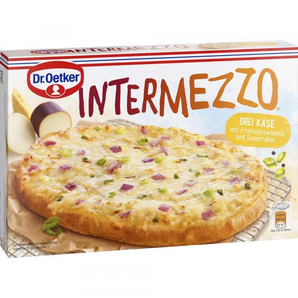"Pizzabrot ""Intermezzo"", Drei Käse mit Frühlingszwiebeln"