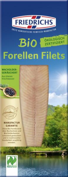 Premium Bio Forellenfilets, geräuchert