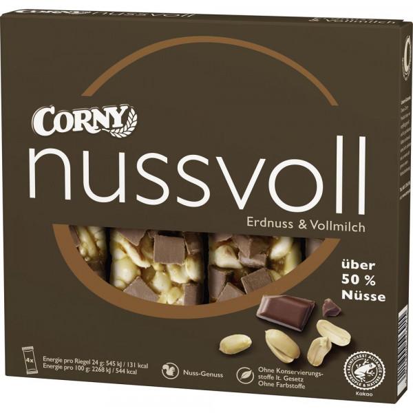 """Müsliriegel """"Nussvoll"""", Vollmilch/Erdnuss"""