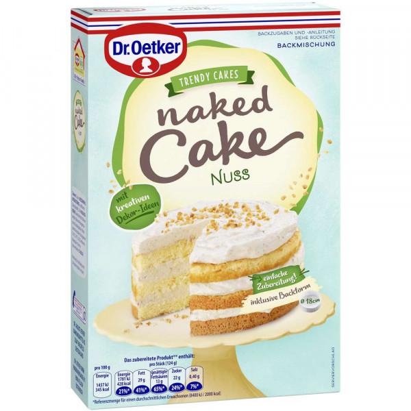 Backmischung Naked Cake, Nuss