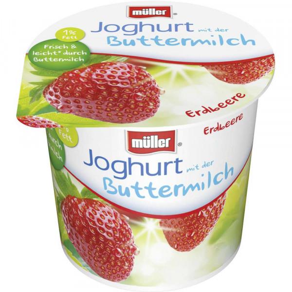 Joghurt mit der Buttermilch, Erdbeere