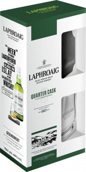 Blendet Whisky Quarter Cask mit Glas 48%