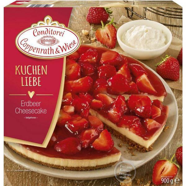 Erdbeer Cheesecake, tiefgekühlt