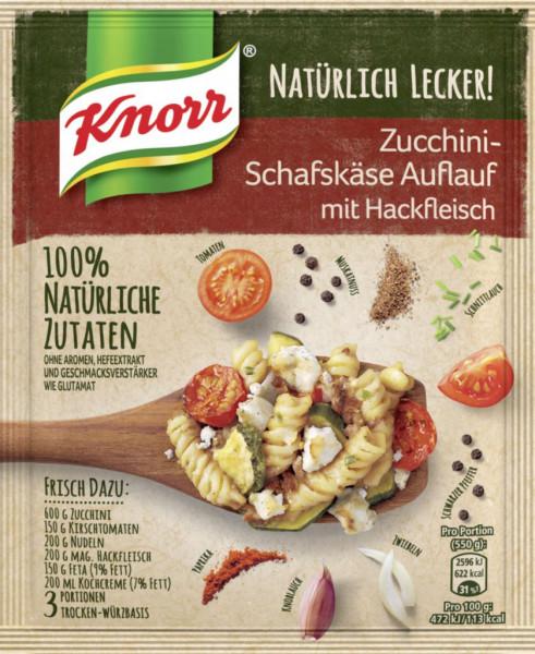 Fix-Würzmischung, Zucchini-Schafskäse-Auflauf mit Hackfleisch