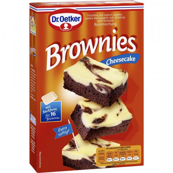 "Backmischung ""Brownies"", Cheesecake"
