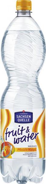 Fruit & Water Mango-Pfirsich Mineralwasser, Naturelle (40 x 360 Liter)