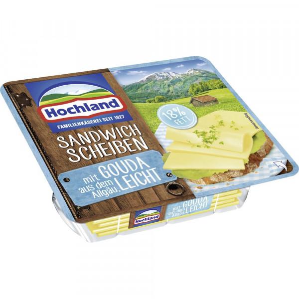 Schmelzkäse-Sandwich Scheiben, Leicht