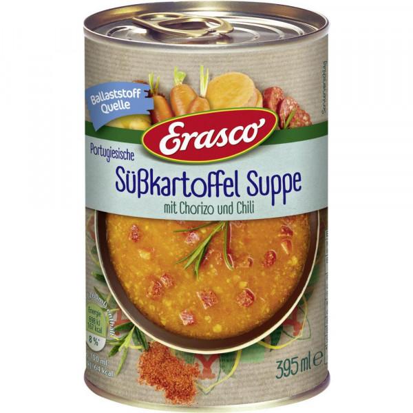 Süßkartoffelsuppe mit Chorizo und Chili