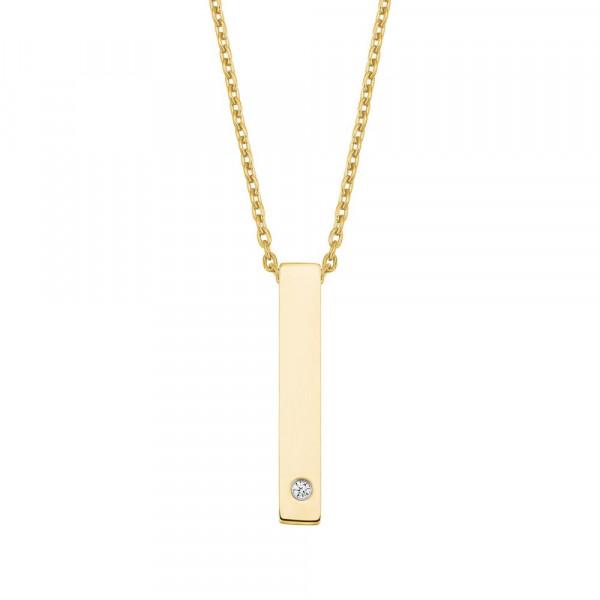 Damen Halskette mit Anhänger aus Edelstahl, vergoldet (4056867023658)