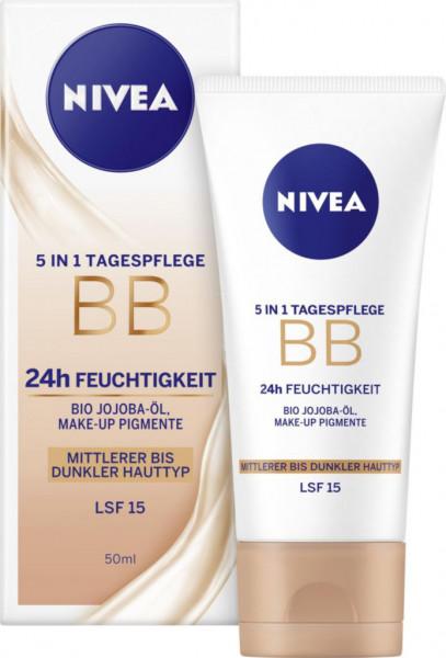 Essentials 5in1 getönte Tagespflege für mittlere-dunkle Hauttypen LSF15