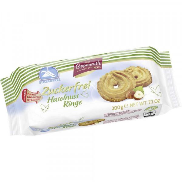 "Cookies ""Haselnuss Ringe"" zuckerfrei"