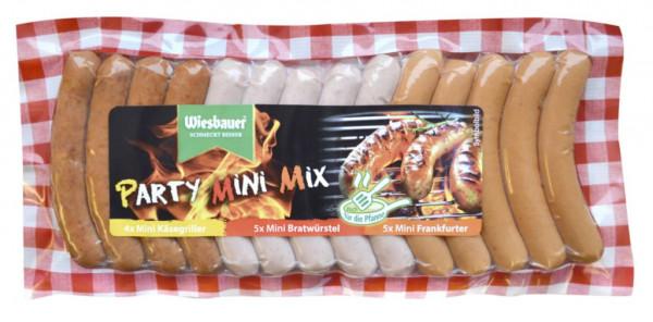 Party Mini Mix, Bratwurst, Käsegriller und Frankfurter
