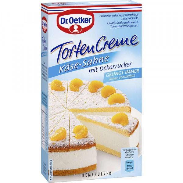 Tortencreme, Käse/Sahne