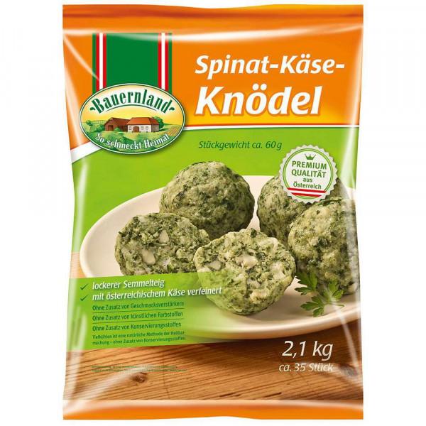 Spinat-Käse-Knödel, tiefgekühlt