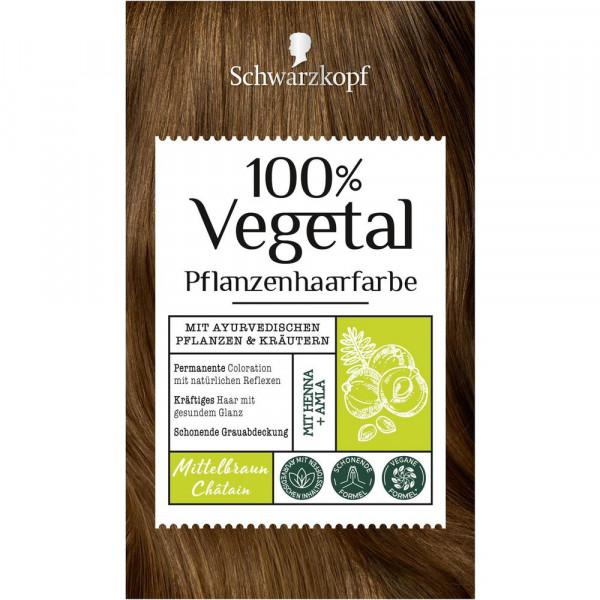 """Pflanzenhaarfarbe """"Vegetal"""", Mittelbraun"""