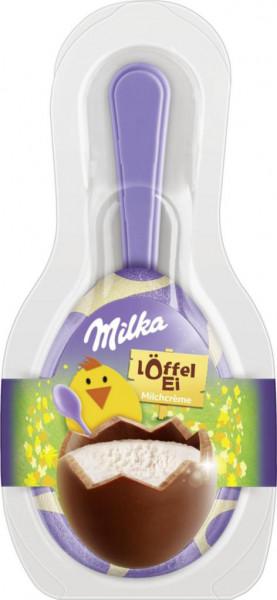 Löffel-Ei mit Milchcreme
