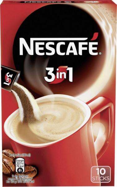 Instant Kaffee Sticks 3 in 1 mit Creamer & Zucker