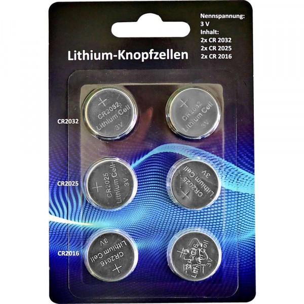 Batterie Knopfzellen CR2032, CR2025, CR2016 Lithium