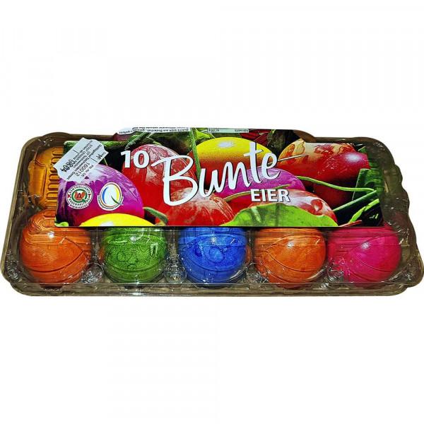 Bunte Eier marmoriert, Bodenhaltung