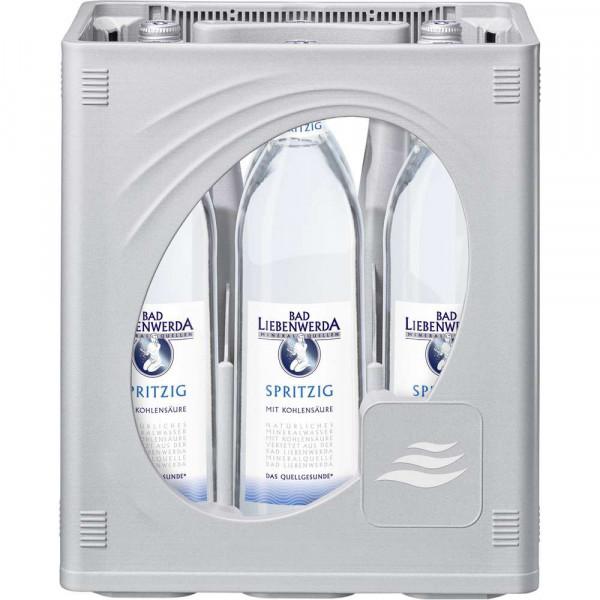 Mineralwasser, Spritzig (6 x 1 Liter)