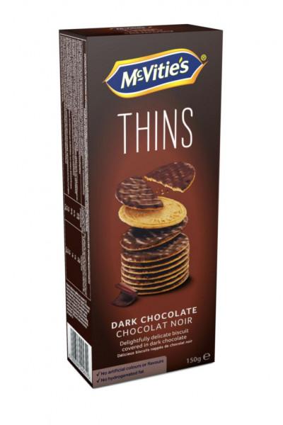 """Dünne Kekse """"Thins"""", Dark Choco"""
