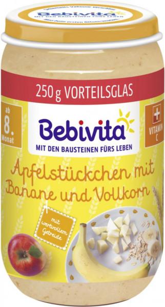"""Babynahrung """"Frucht & Getreide"""", Apfelstückchen/Banane/Vollkorn"""